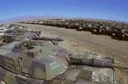 美国最大装甲坟场里上百辆M1坦克闲置