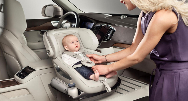 沃尔沃推出旋转式儿童安全座椅 颠覆性设计