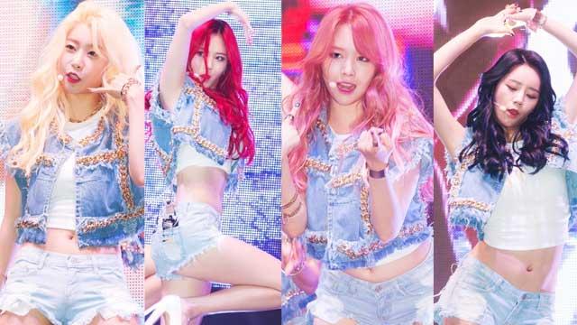 Girl's Day举行新专Showcase 热裤秀性感身材