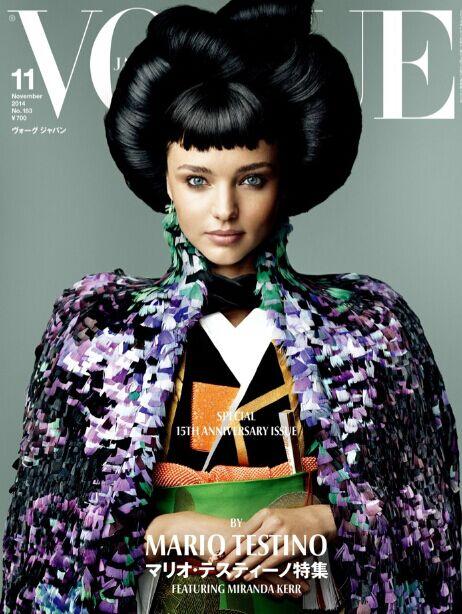 细数超模米兰达·可儿曾登过的《Vogue》封面