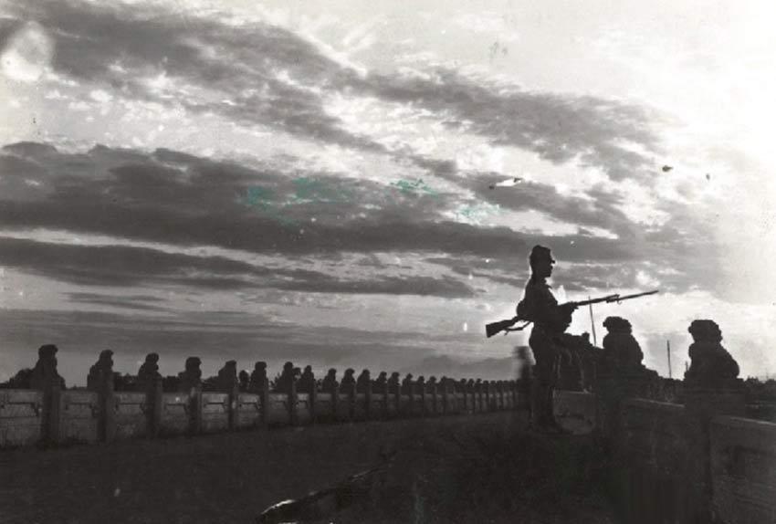 组图:抗日烽烟 78年前后卢沟桥的对比照片