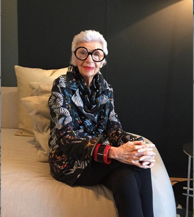 百岁时尚偶像艾瑞斯•阿普菲尔痛批当今服装界