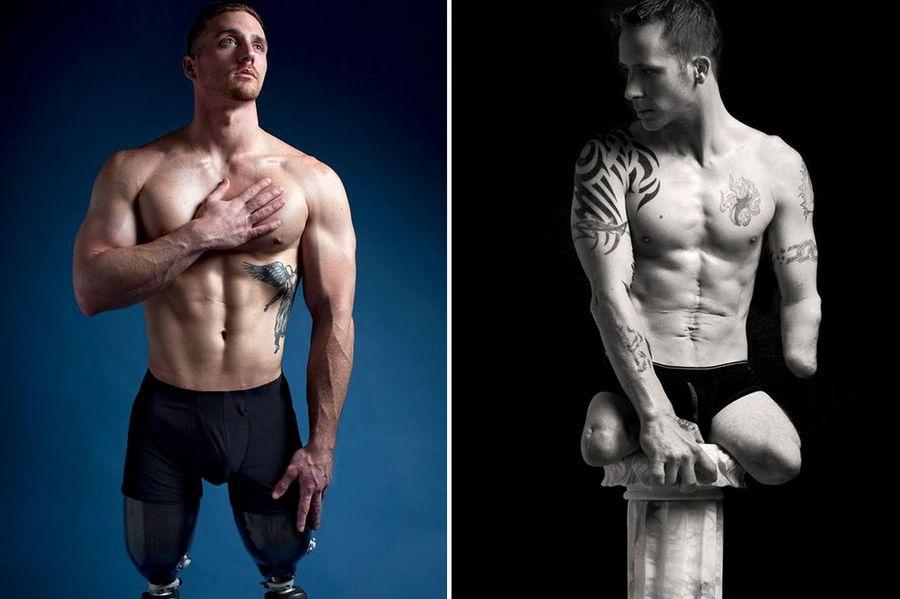 残缺的美!美摄影师为伤残军人拍摄性感裸照