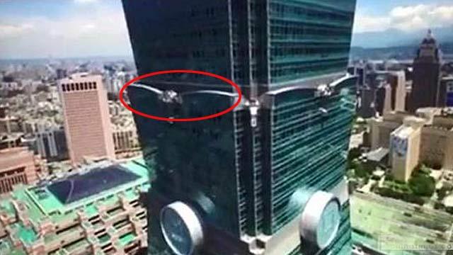 空拍机撞击台北101惊险视频曝光 网友:恐袭?