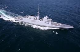 埃及购法FREMM级护卫舰超美航行画面