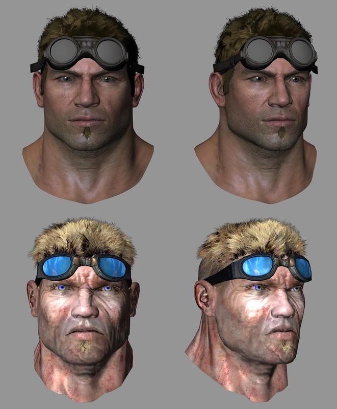 《战争机器4》人物设计图曝光 身材比例很正常