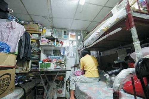 香港近20万人住隔断房 人均居住面积约5.7平米