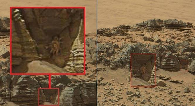 """""""好奇号""""火星车拍到疑似""""螃蟹"""""""