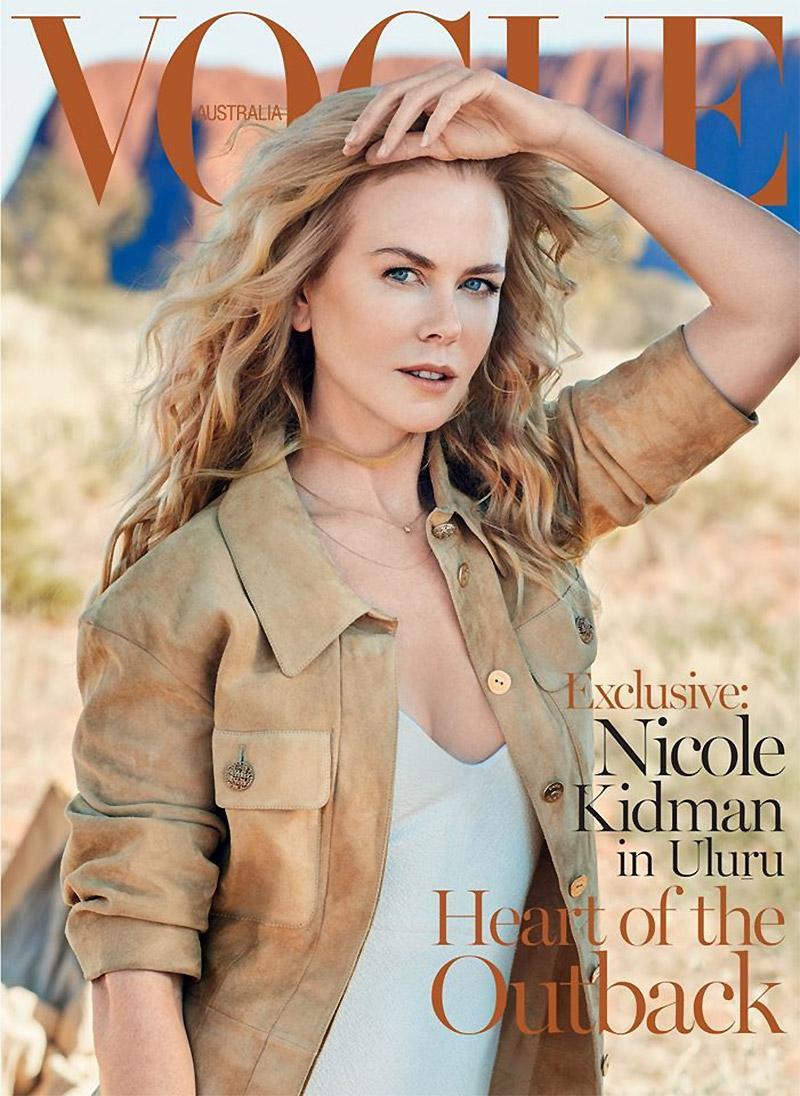 妮可•基德曼登澳版《Vogue》杂志封面显优雅