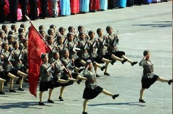 盘点各国女兵阅兵:朝鲜最夸张