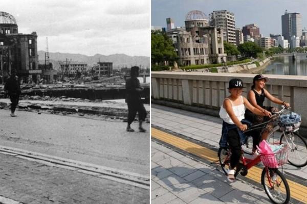 图片故事:广岛原子弹爆炸70周年 今昔对比