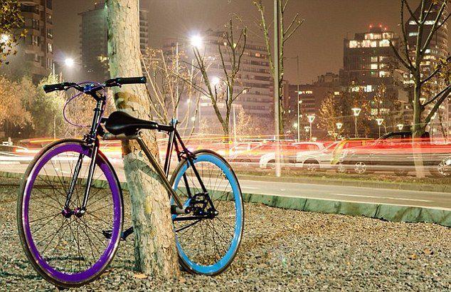 结构防盗自行车