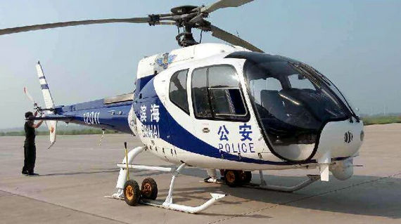AC311国产直升机驰援天津爆炸现场(组图)