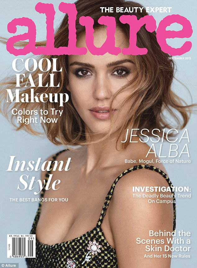 杰西卡·阿尔芭登《Allure》杂志封面彰显女强人自信风采