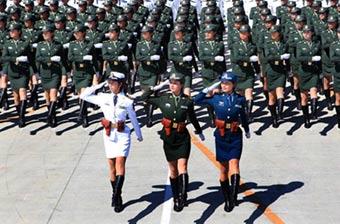 中国女兵:阅兵场最靓丽风景线
