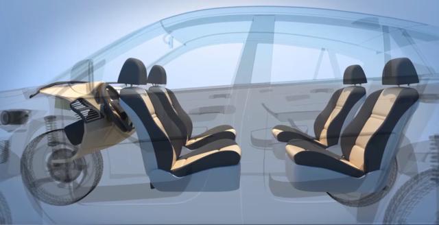福特自动驾驶专利:座椅可重组为客厅会议室