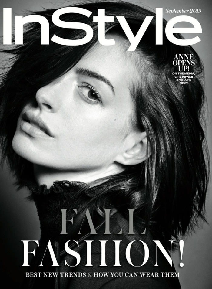 安妮海瑟薇登杂志封面拍黑白大片尽显熟女气质