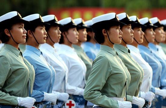 揭秘抗战阅兵唯一女兵方队