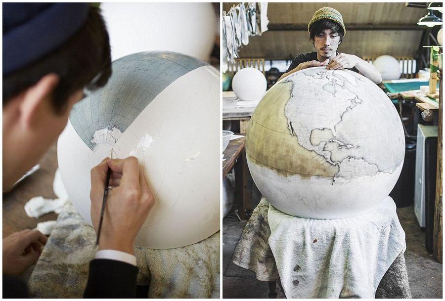 英工作室纯手工打造精美地球仪受热捧
