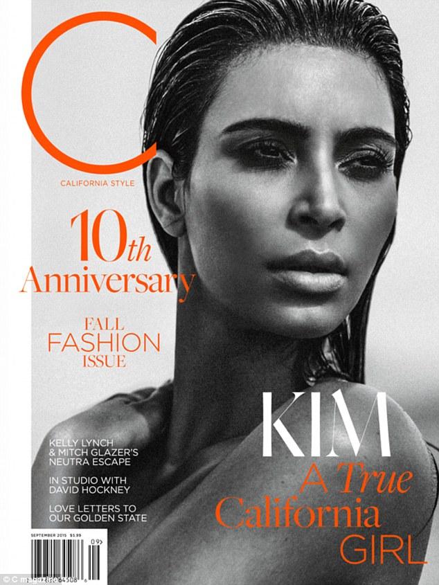 金•卡戴珊登《C》杂志封面称为保命或将切除子宫