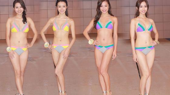 总决赛在即 众佳丽泳装彩排光彩照人