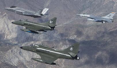 F-35面子大!这么多老机型陪练