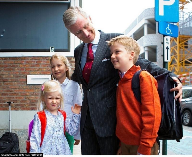 欧洲王室萌娃迎接开学日百态图片