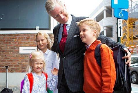 欧洲王室萌娃迎接开学日百态