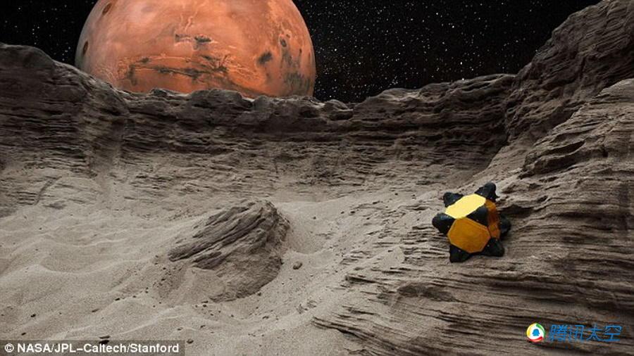 猬 机器人可在外星球表面跳跃滚动