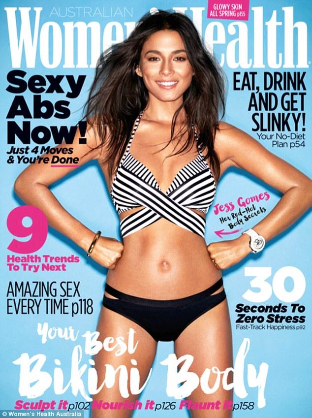 名模杰西卡•戈麦斯登《健康女性》封面