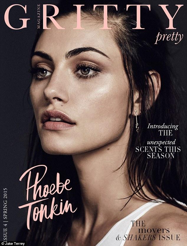 澳女演员菲比·托金荣登《Gritty Pretty》杂志封面