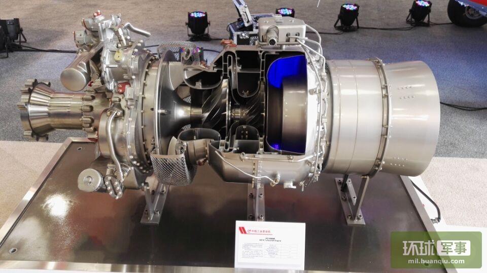 各个角度看新型涡轴16发动机