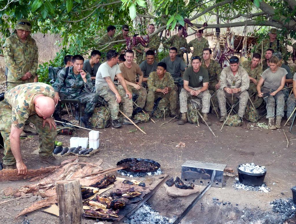 澳士兵在澳受训野外生存