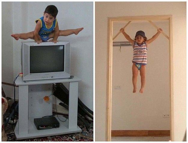 伊朗2岁神童天赋过人大炫体操特技