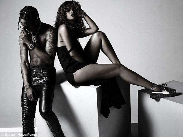 蕾哈娜携新欢为彪马新款球鞋代言广告曝光