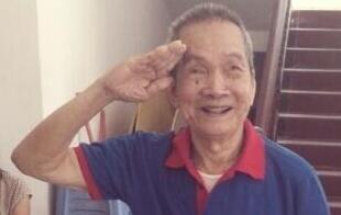 大学生探访抗战老兵:91岁高龄行标准军礼