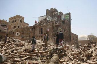 也门萨那古城遭空袭致57死