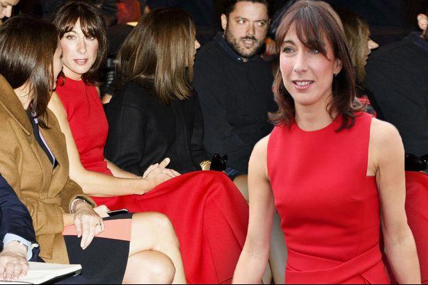 英首相夫人身着一袭红装惊艳亮相伦敦时装周