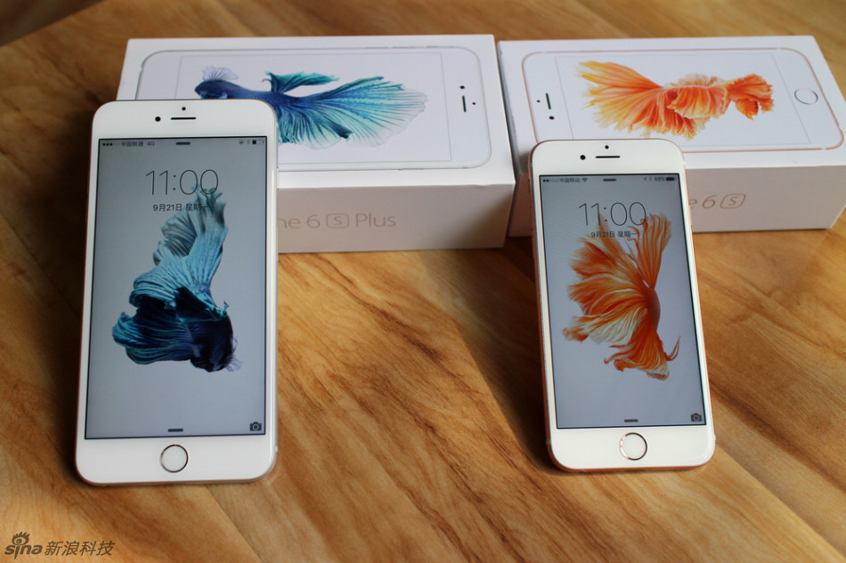 iphone 6s与6s plus机器实拍