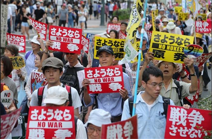 日本2.5万民众举行反安保法集会 呼吁找回民主主义
