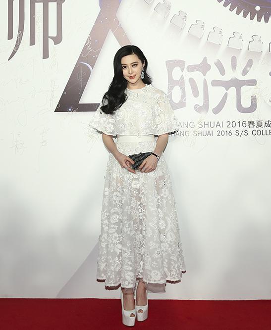 黄晓明baby出席张帅时光之眼时装秀 范冰冰李冰冰同场比美