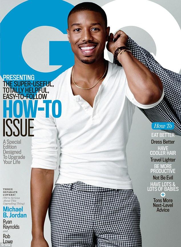 迈克尔·B·乔丹登男士时尚杂志《GQ》