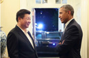 习近平与奥巴马畅聊