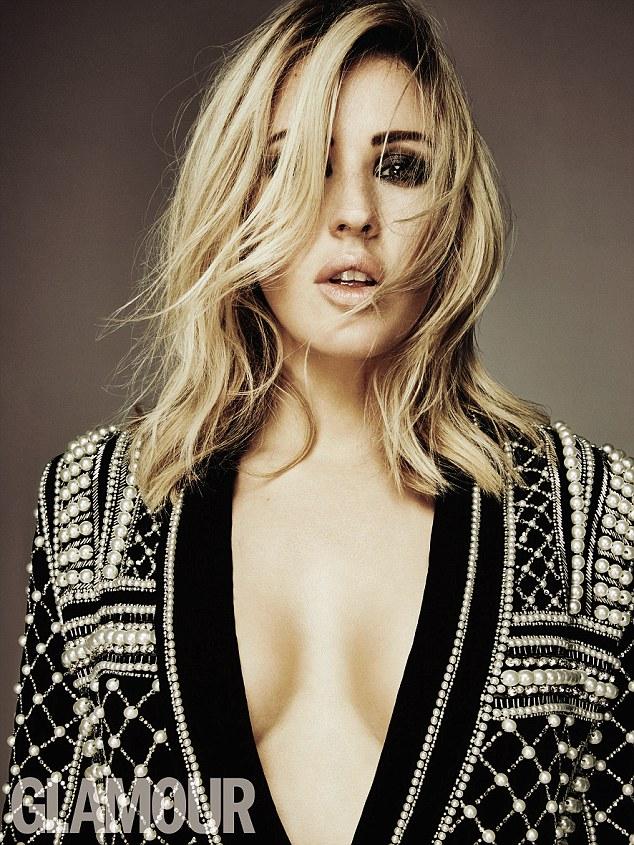 英女歌手埃利·古尔丁真空装登《Glamour》杂志封面