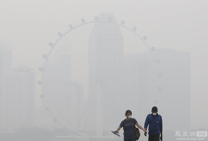 印尼烧荒开垦致新加坡雾霾持续