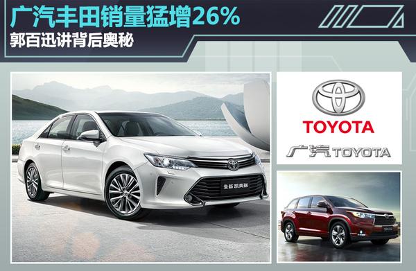 广汽丰田销量猛增26% 郭百迅讲背后奥秘