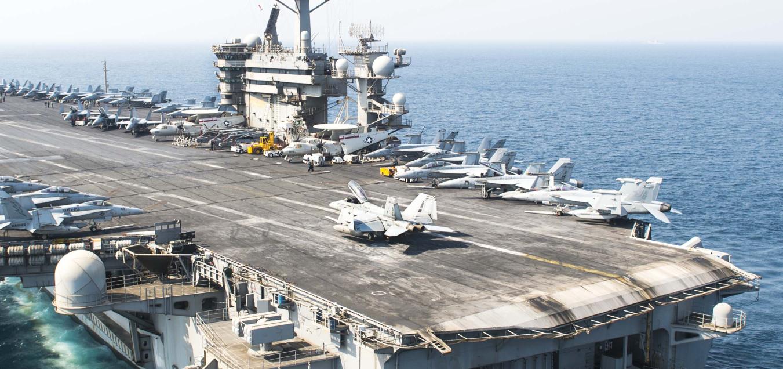 风头不能给普京抢走!美军中东航母开始行动了?