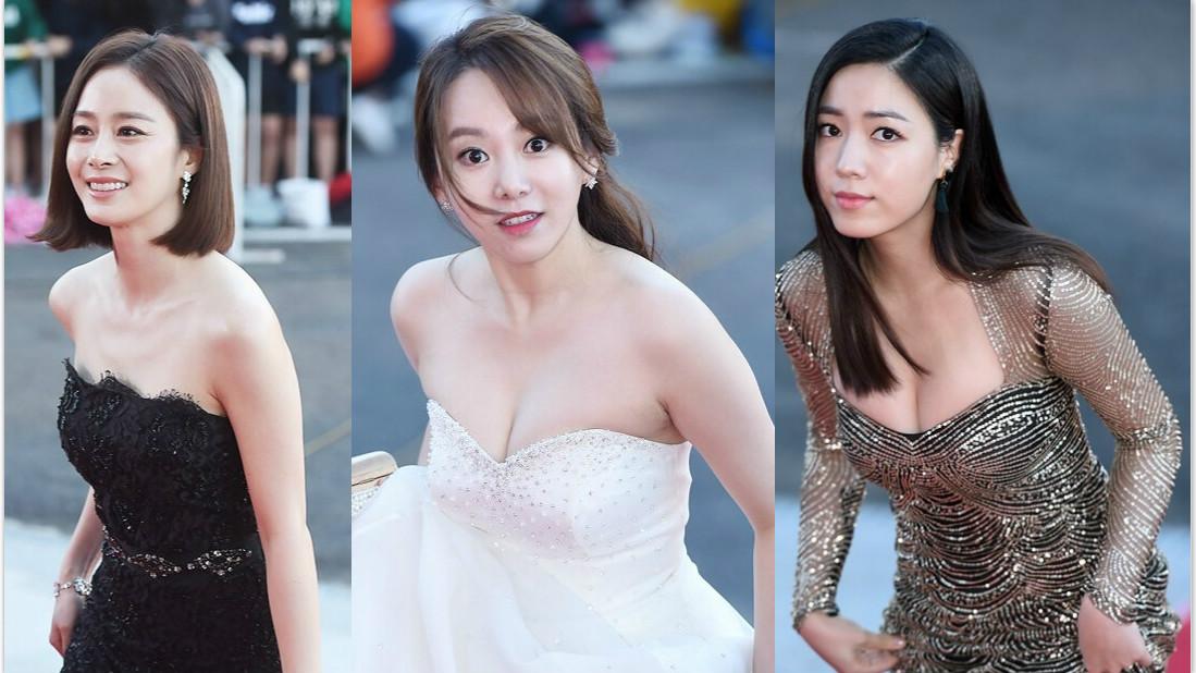 2015韩国电视大赏红毯 女星拼胸