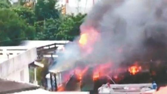 消防员火攻除蜂不慎引燃物品 房主全副家当被烧光