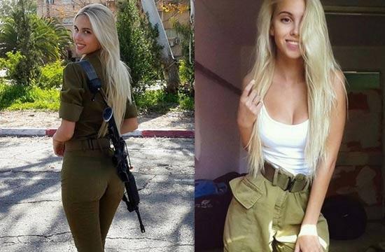 以色列模特入伍当兵身材火辣